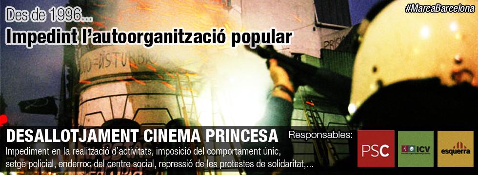 Desallotjament cinema Princesa