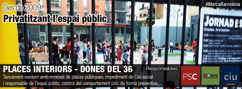 Places públiques - Plaça de les Dones del 36